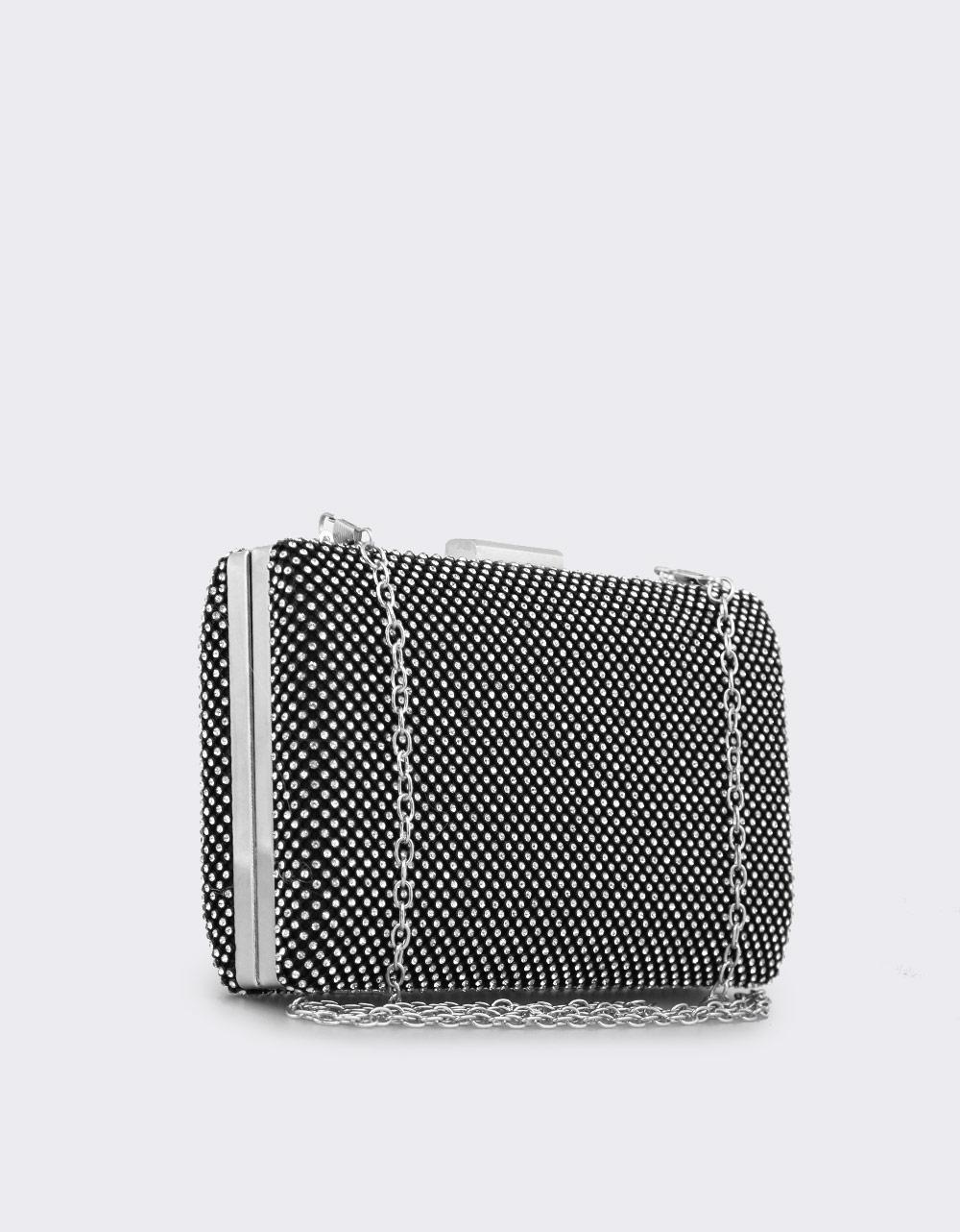 Εικόνα από Γυναικείοι φάκελοι clutch με strass Μαύρο