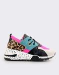 Εικόνα από Γυναικεία sneakers με μοτίβο Φούξια/Γκρι