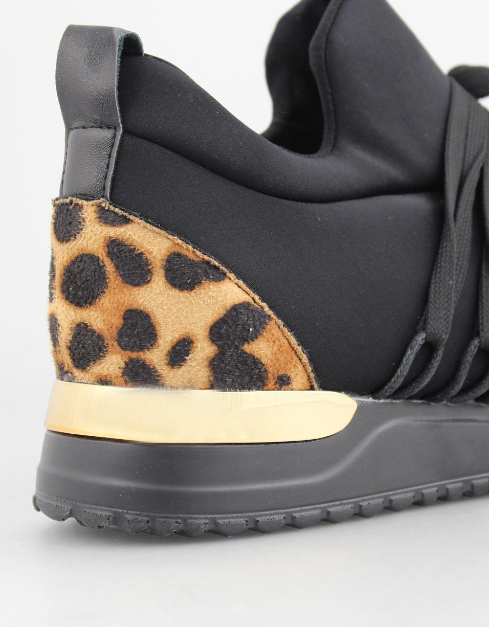 Εικόνα από Γυναικεία sneakers με δίχρωμη σόλα Λεοπάρ