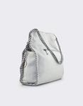 Εικόνα από Γυναικείες τσάντες ώμου με διακοσμητική αλυσίδα Γκρι