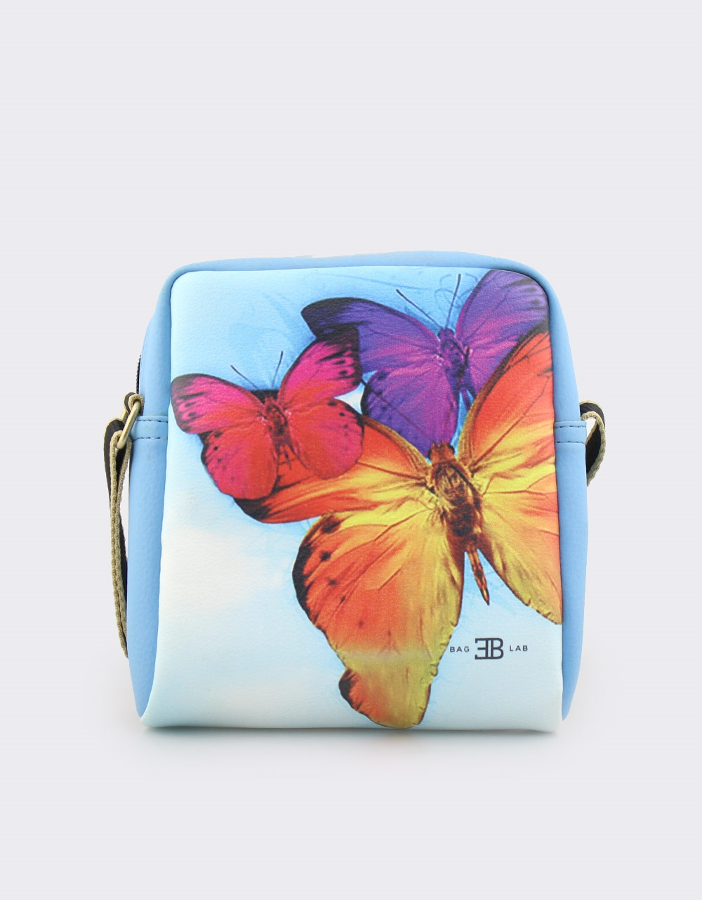 Εικόνα από Γυναικείες τσάντες ώμου με print πεταλούδες Σιέλ