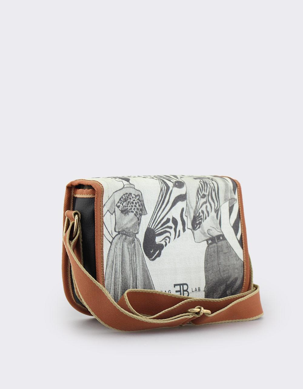 Εικόνα από Γυναικείες τσάντες ώμου με print Μαύρο