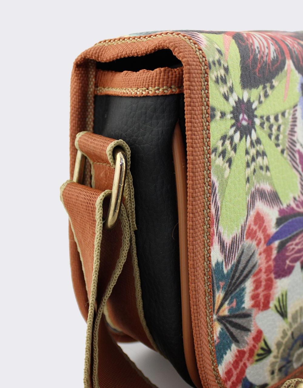 Εικόνα από Γυναικείες τσάντες ώμου με πολύχρωμο print Μαύρο