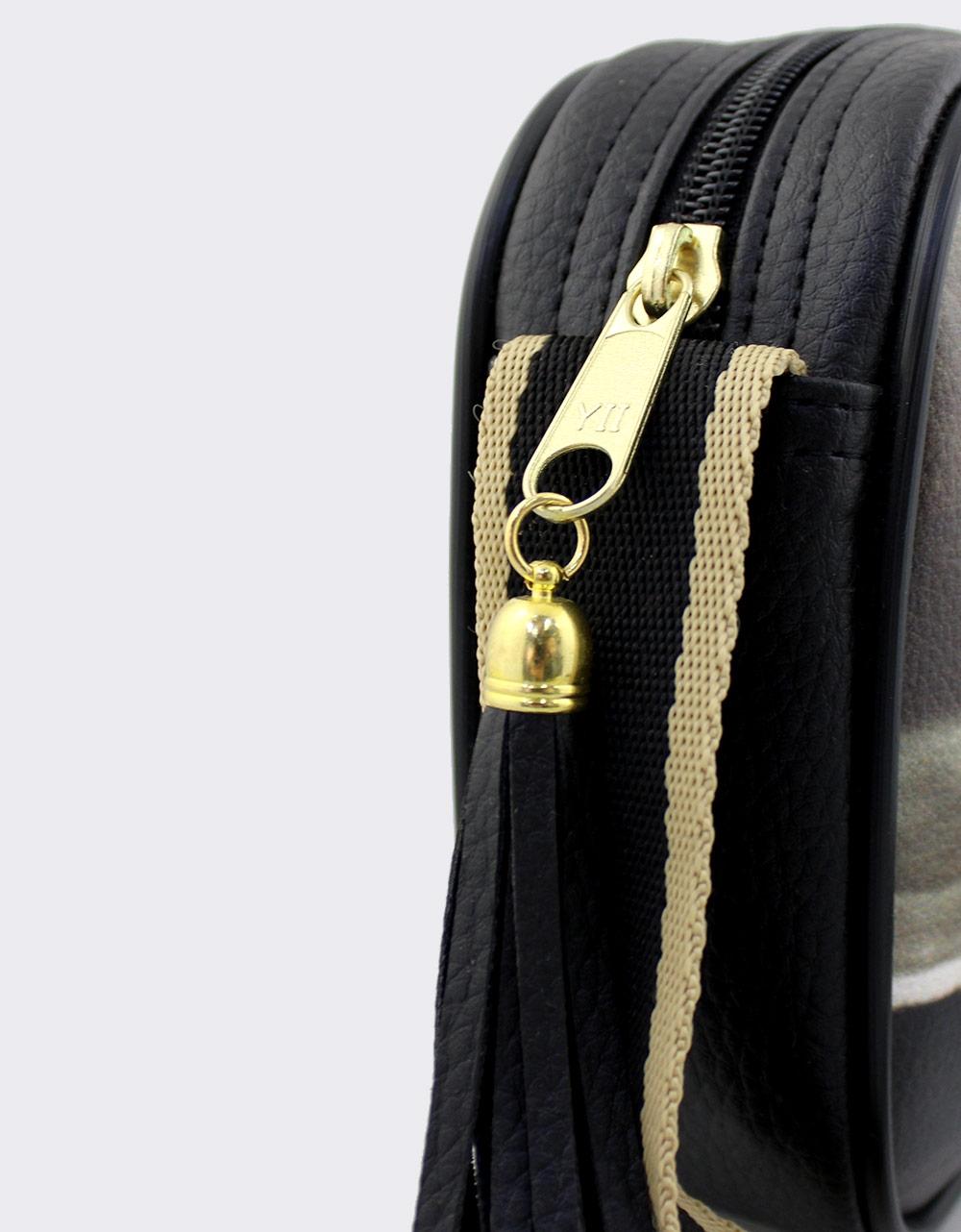 Εικόνα από Γυναικείες τσάντες ώμου με τύπωμα Μαύρο