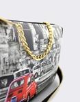 Εικόνα από Γυναικείες τσάντες ώμου με print London Λευκό