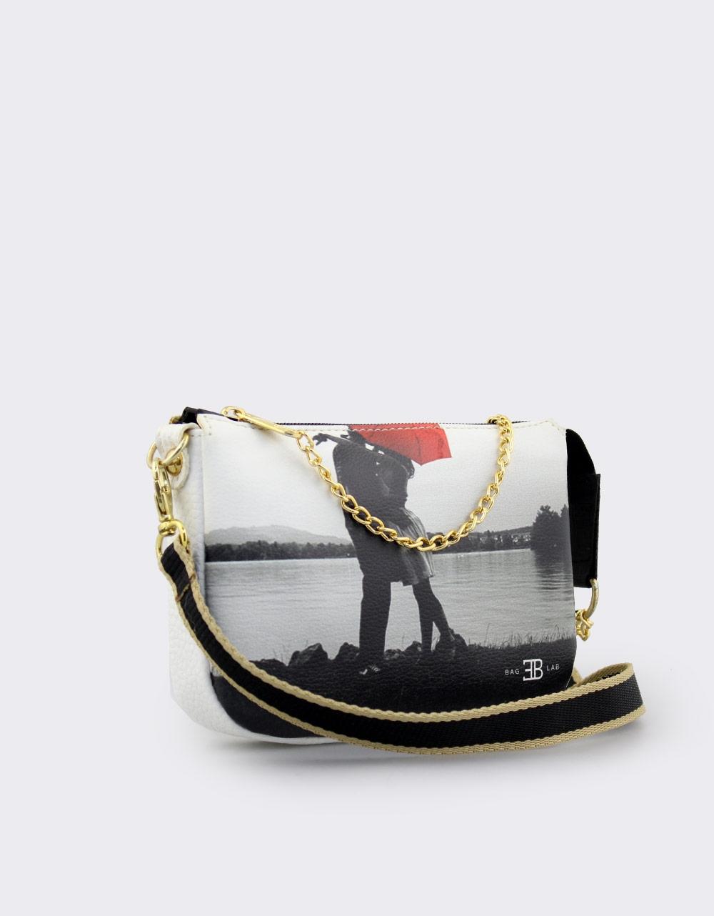 Εικόνα από Γυναικείες τσάντες ώμου με print Λευκό