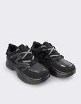 Εικόνα από Ανδρικά sneakers με ριγέ κορδόνια Μαύρο