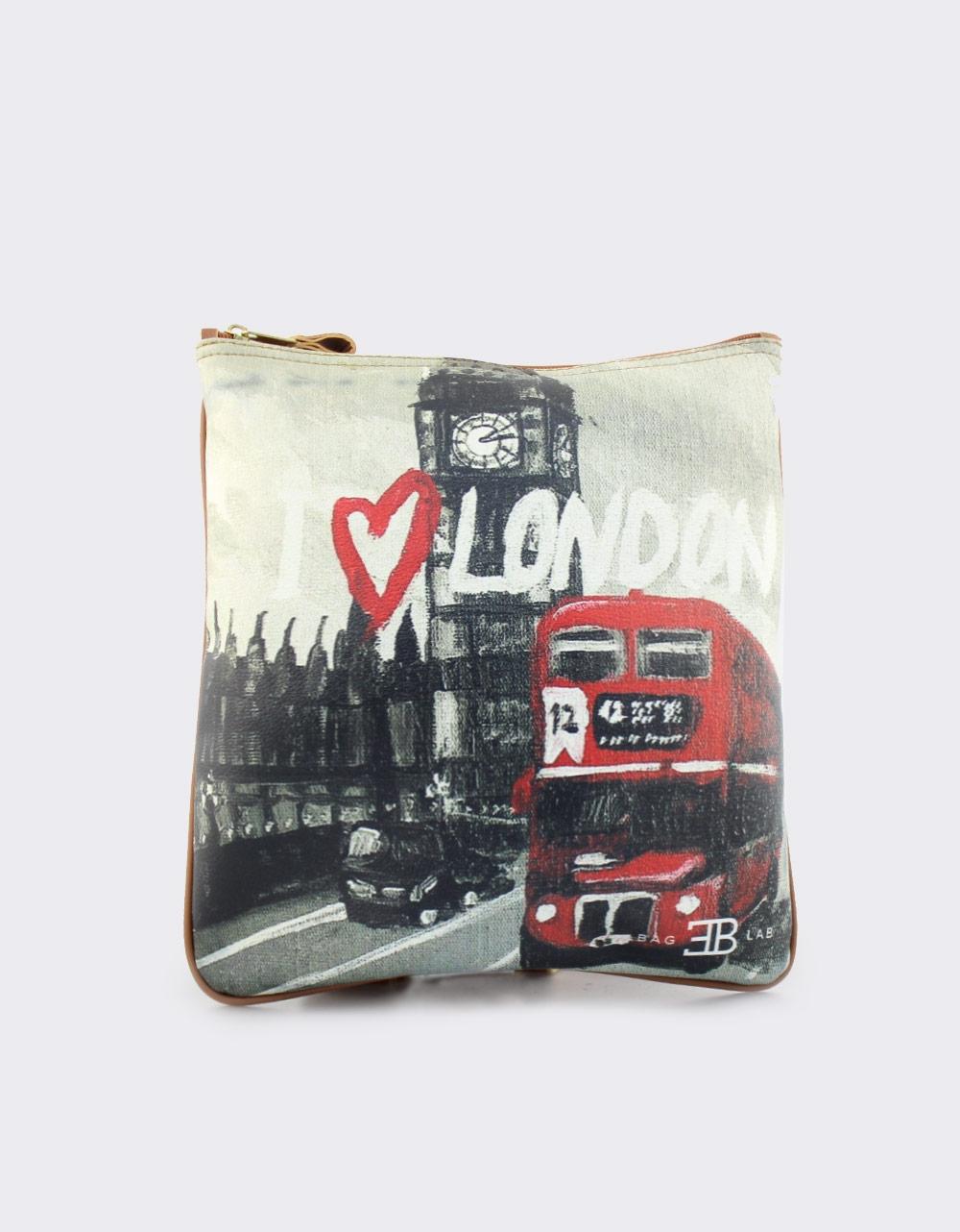 Εικόνα από Γυναικείες τσάντες ώμου με print London Μαύρο