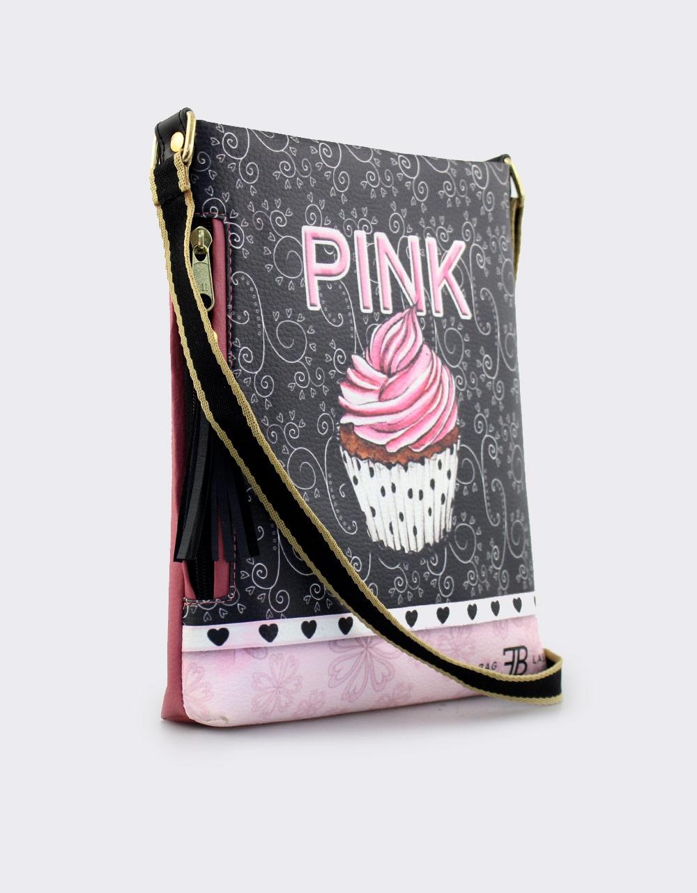 Εικόνα από Γυναικείες τσάντες ώμου με print cupcake Ροζ