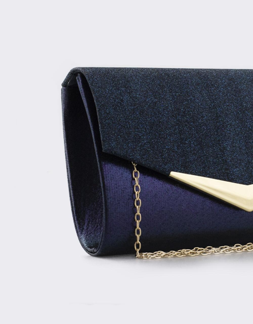 Εικόνα από Γυναικείοι φάκελοι με glitter και διακοσμητικό Navy