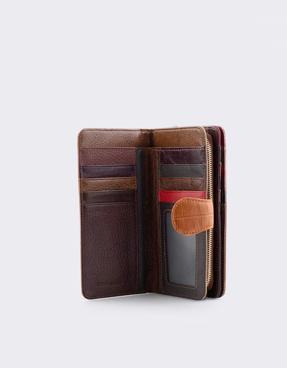 Εικόνα από Γυναικεία δερμάτινα πορτοφόλια κροκό Ταμπά