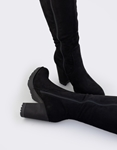 Εικόνα από Γυναικείες μπότες μονόχρωμες με φιάπα Μαύρο