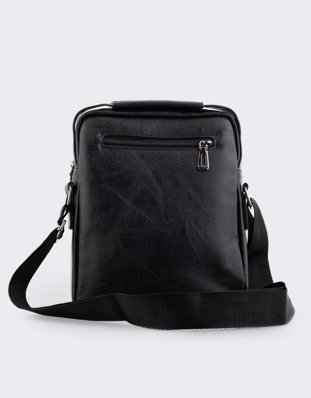 Εικόνα από Ανδρικές τσάντες ώμου με εξωτερικές θήκες Μαύρο