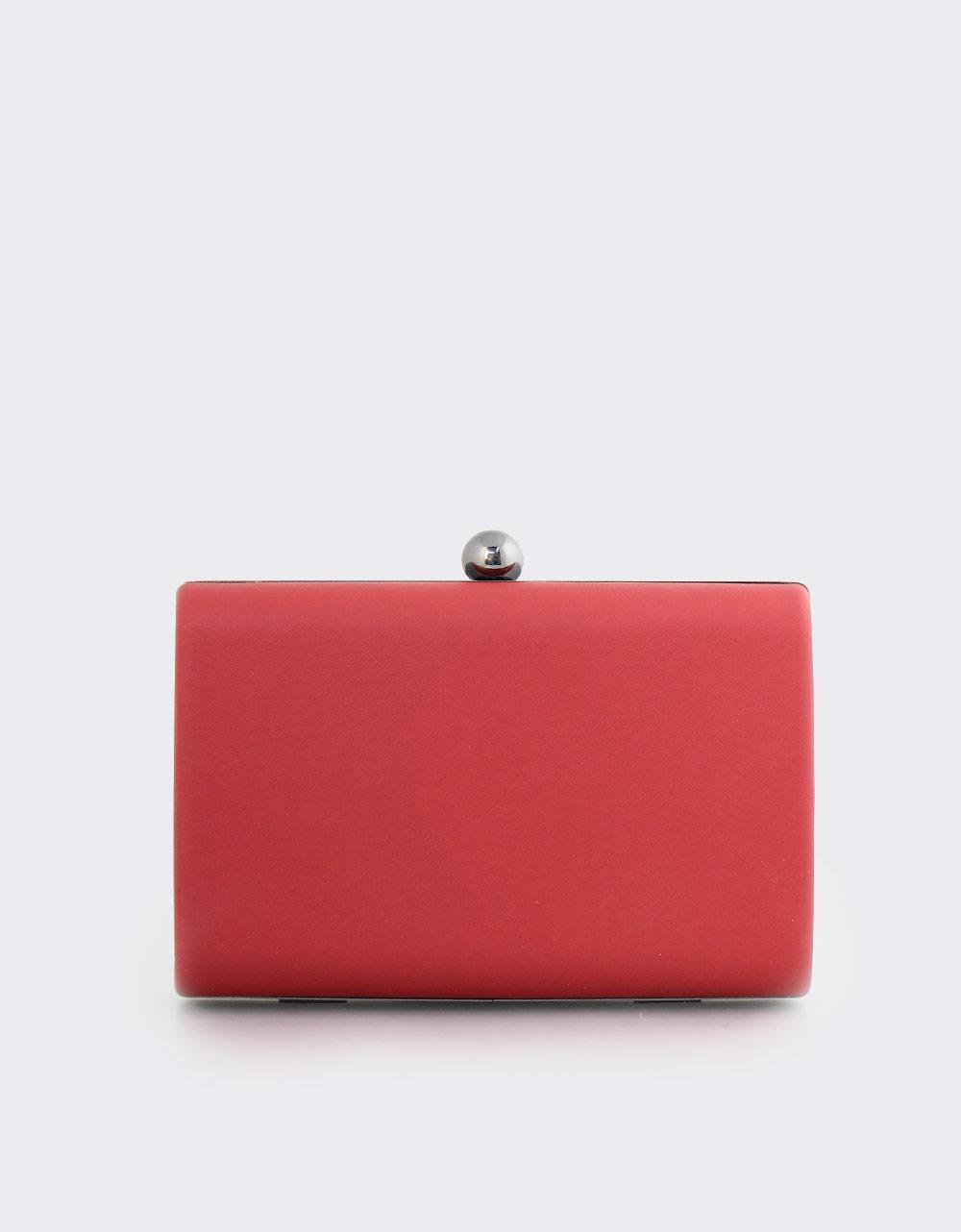 Εικόνα από Γυναικείοι φάκελοι clutch με χρυσή λεπτομέρεια Κόκκινο