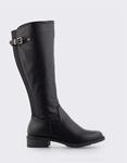 Εικόνα από Γυναικείες μπότες με λάστιχο Μαύρο