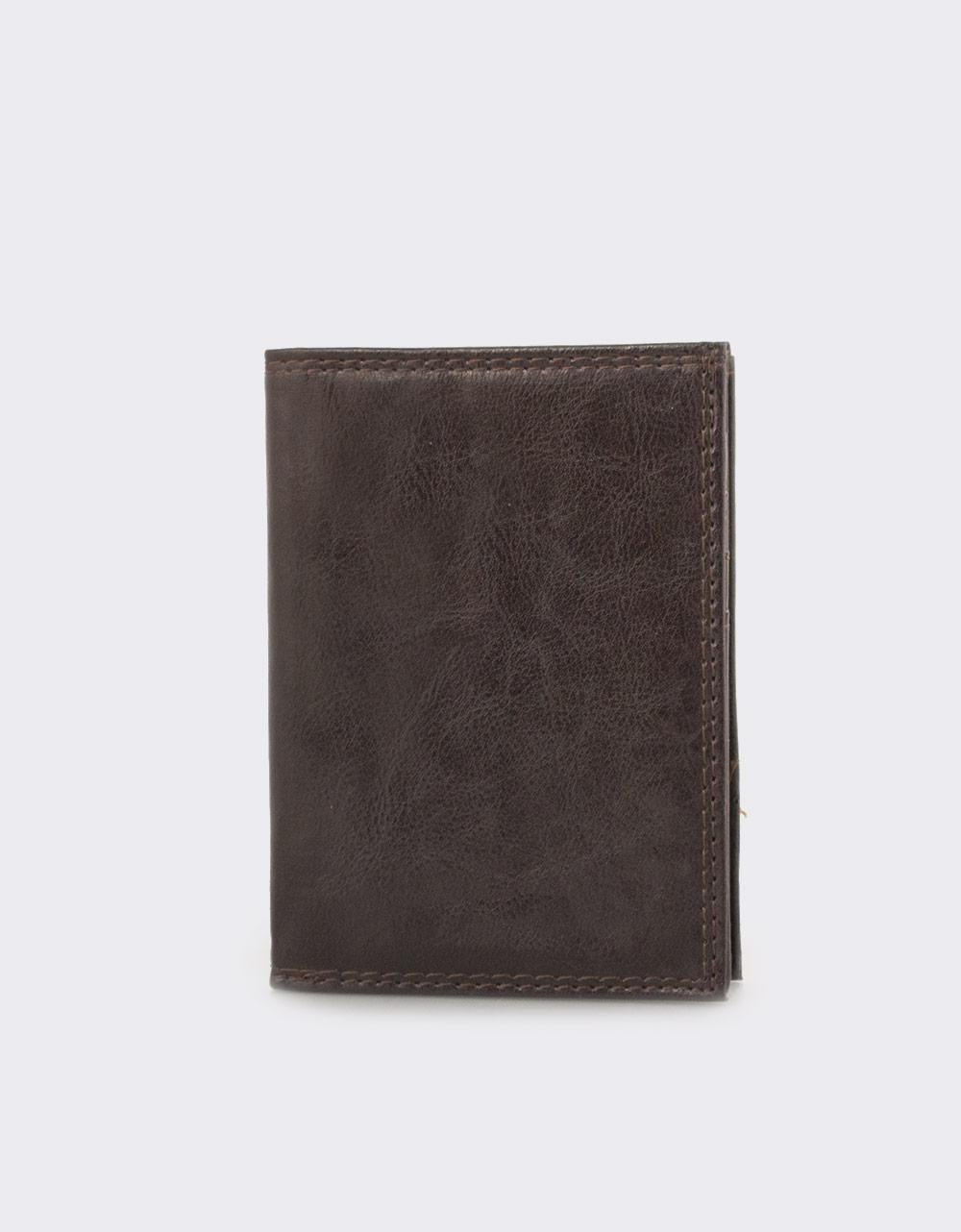 Εικόνα από Ανδρικά πορτοφόλια σε απλή γραμμή Καφέ