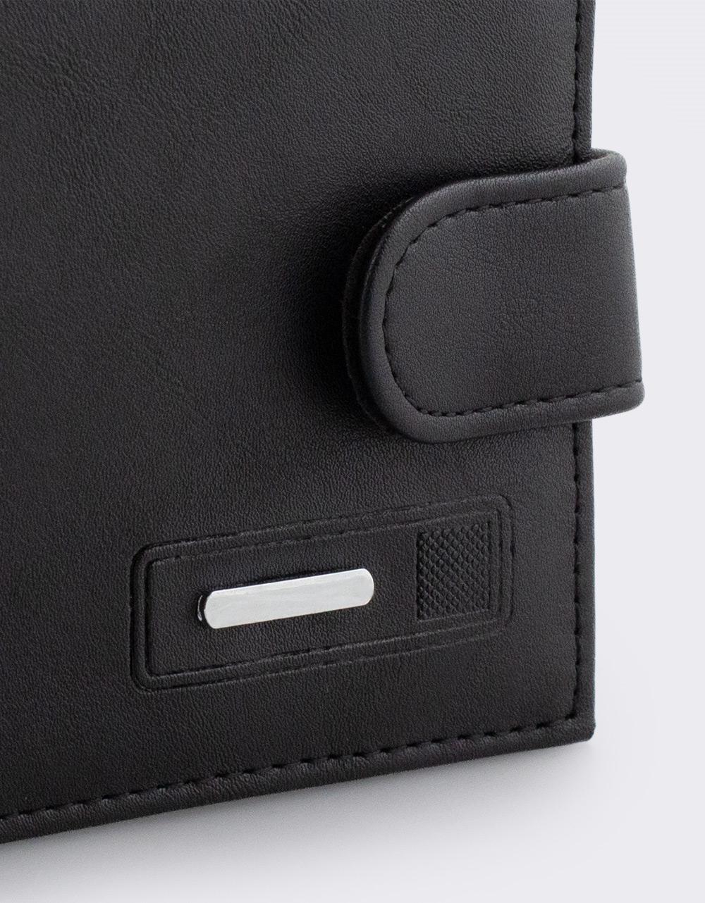 Εικόνα από Ανδρικά πορτοφόλια μονόχρωμα Μαύρο
