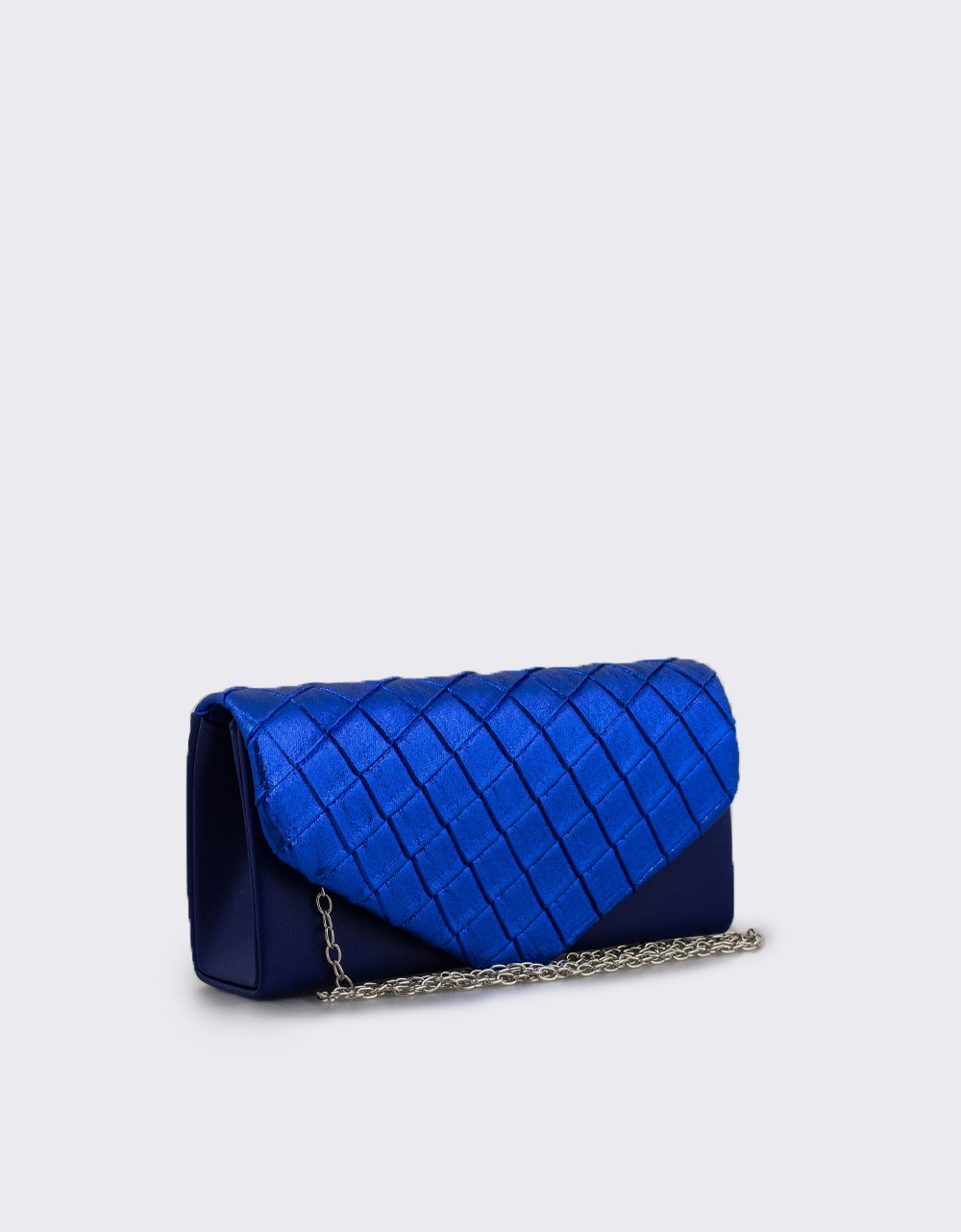 Εικόνα από Γυναικείοι φάκελοι με μεταλλιζέ λεπτομέρεια Μπλε