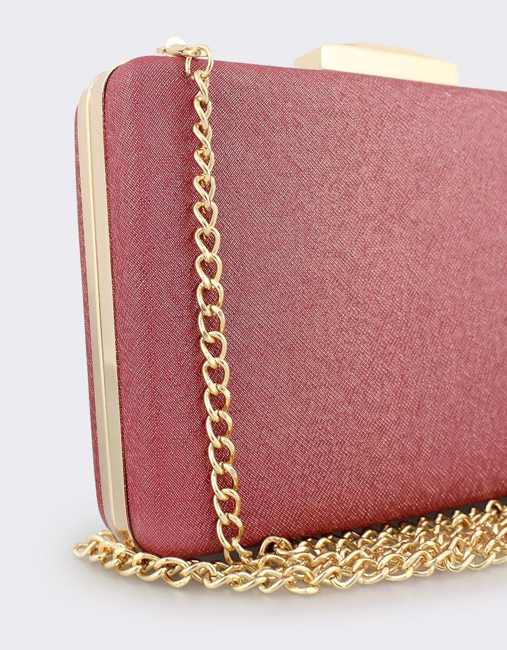 Εικόνα από Γυναικείοι φάκελοι clutch με χρυσόσκονη Κόκκινο