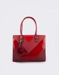 Εικόνα από Γυναικεία τσάντα χερός με τριγωνικά σχέδια Κόκκινο