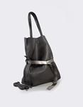 Εικόνα από Γυναικεία τσάντα με διακοσμητική ζώνη Γκρι