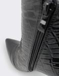 Εικόνα από Γυναικεία μποτάκια κροκό λουστρίνι Μαύρο
