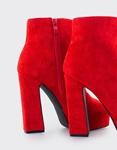 Εικόνα από Γυναικεία μποτάκια με φιάπα Κόκκινο