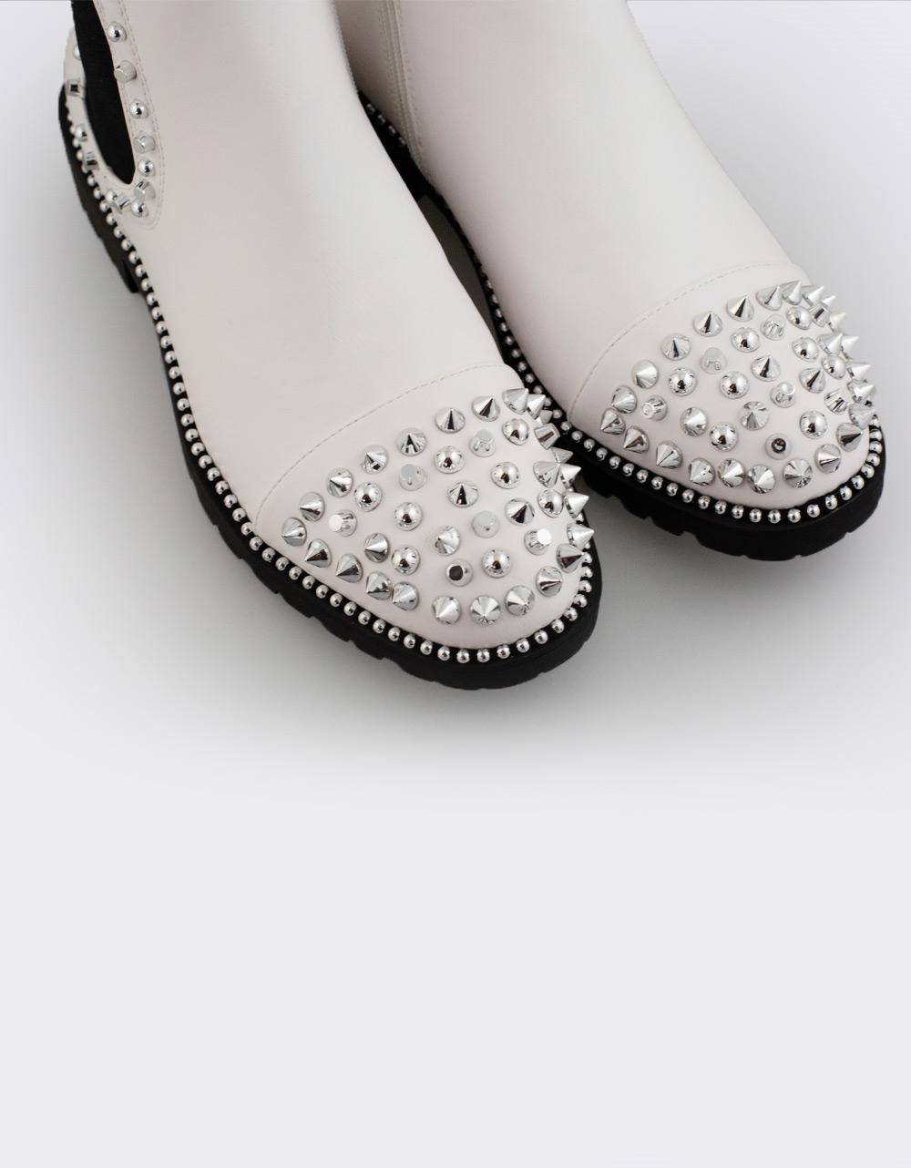 Εικόνα από Γυναικεία μποτάκια με τρουκς Λευκό
