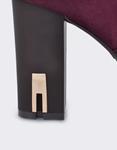 Εικόνα από Γυναικεία μποτάκια με διακοσμητικό στο τακούνι Μπορντώ