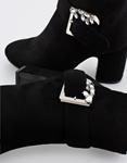 Εικόνα από Γυναικεία μποτάκια με διακοσμητικό στον τοκά Μαύρο