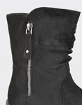 Εικόνα από Γυναικεία μποτάκια με διακοσμητικό φερμουάρ Μαύρο