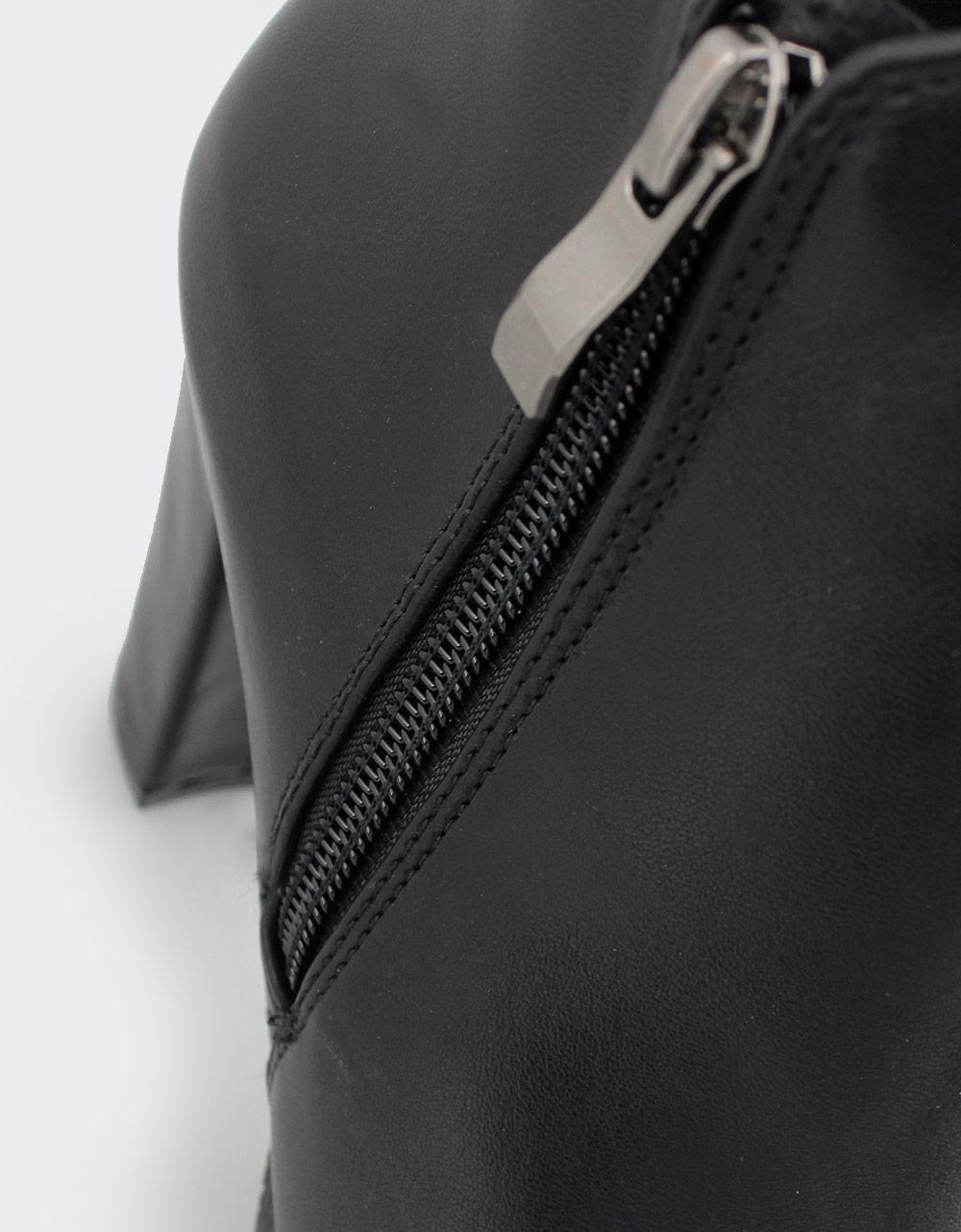 Εικόνα από Γυναικεία μποτάκια με λάστιχο Μαύρο