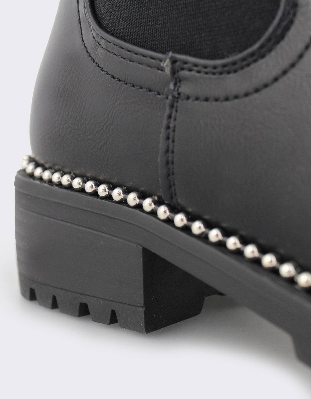 Εικόνα από Γυναικεία μποτάκια με διακοσμητικά Μαύρο