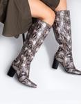 Εικόνα από Γυναικείες μπότες με animal print Μαύρο