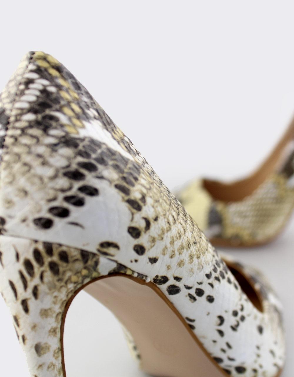 Εικόνα από Γυναικείες γόβες snake skin Κίτρινο