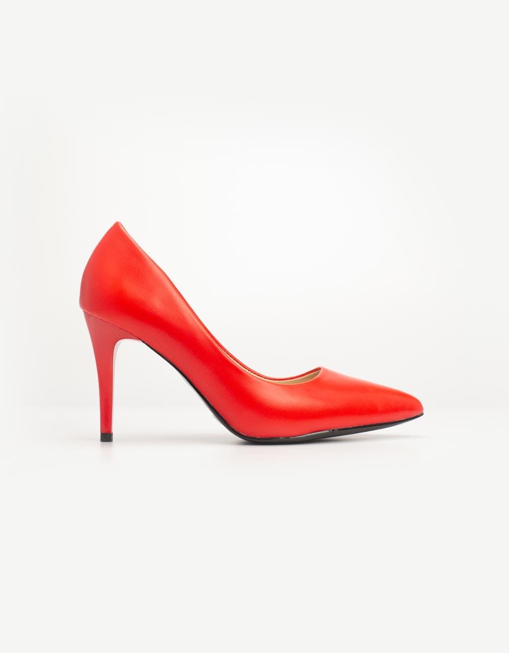 Εικόνα από Γυναικείες γόβες μονόχρωμες Κόκκινο