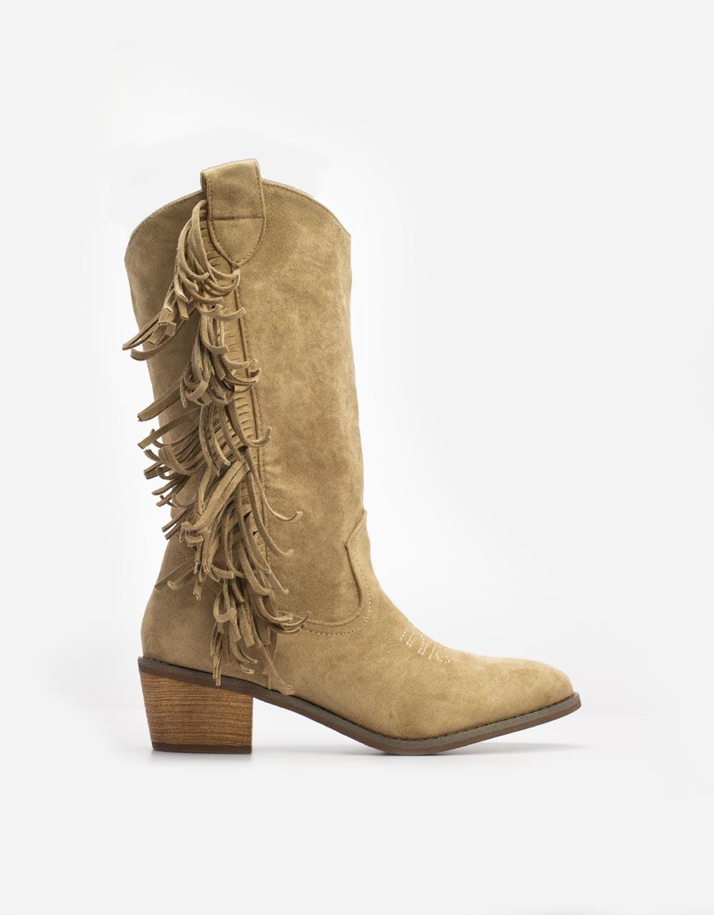 Εικόνα από Γυναικείες μπότες με κροσσάκια Πούρο