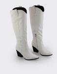 Εικόνα από Γυναικείες μπότες κροκό μονόχρωμες Λευκό