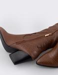 Εικόνα από Γυναικείες μπότες κροκό μονόχρωμες Ταμπά