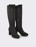 Εικόνα από Γυναικείες μπότες ψιλoτάκουνες με λάστιχο Μαύρο