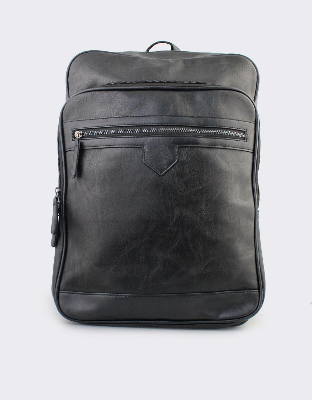 Εικόνα από Ανδρικά σακίδια πλάτης με εξωτερικά φερμουάρ Μαύρο