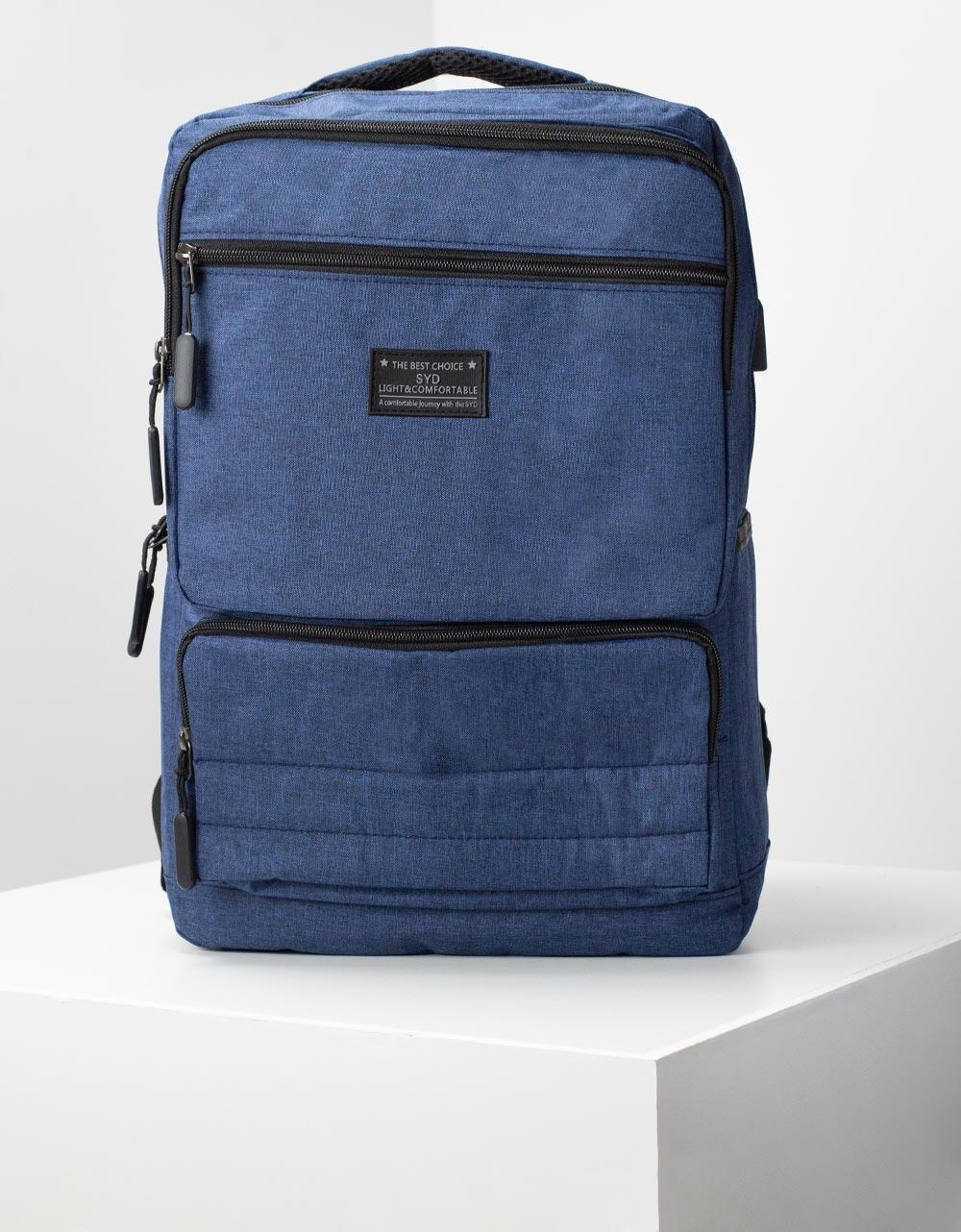 Εικόνα από Ανδρικά σακίδια πλάτης με φερμουάρ Μπλε