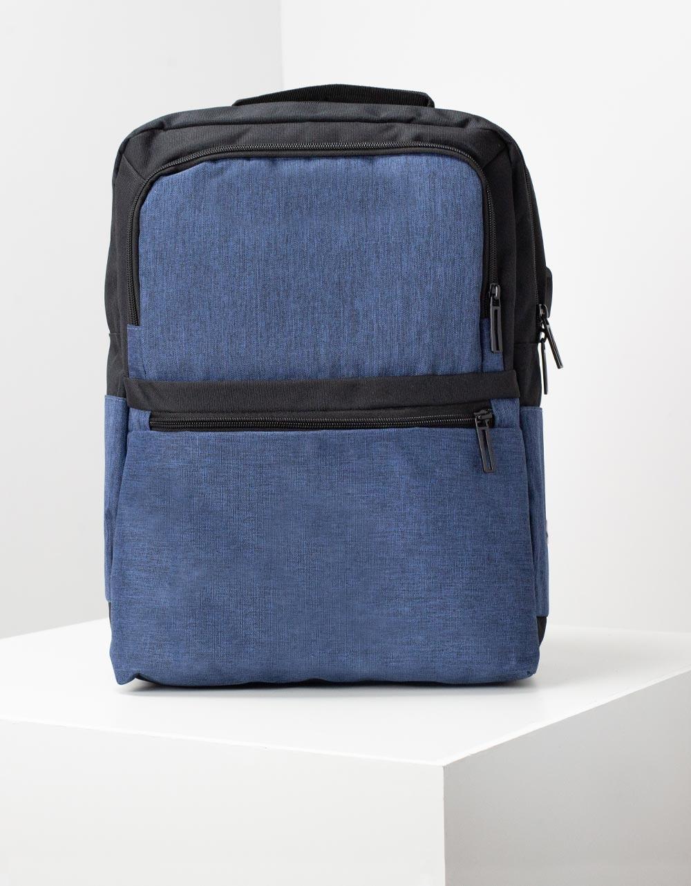 Εικόνα από Ανδρικά σακίδια πλάτης με εξωτερικές θήκες Μπλε