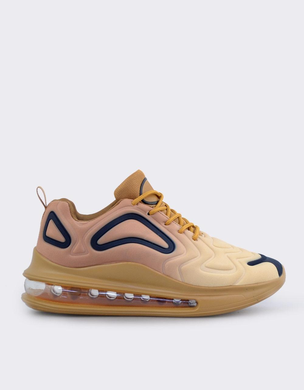 Εικόνα από Ανδρικά sneakers με αερόσολα και ανάγλυφα σχέδια Χρυσό