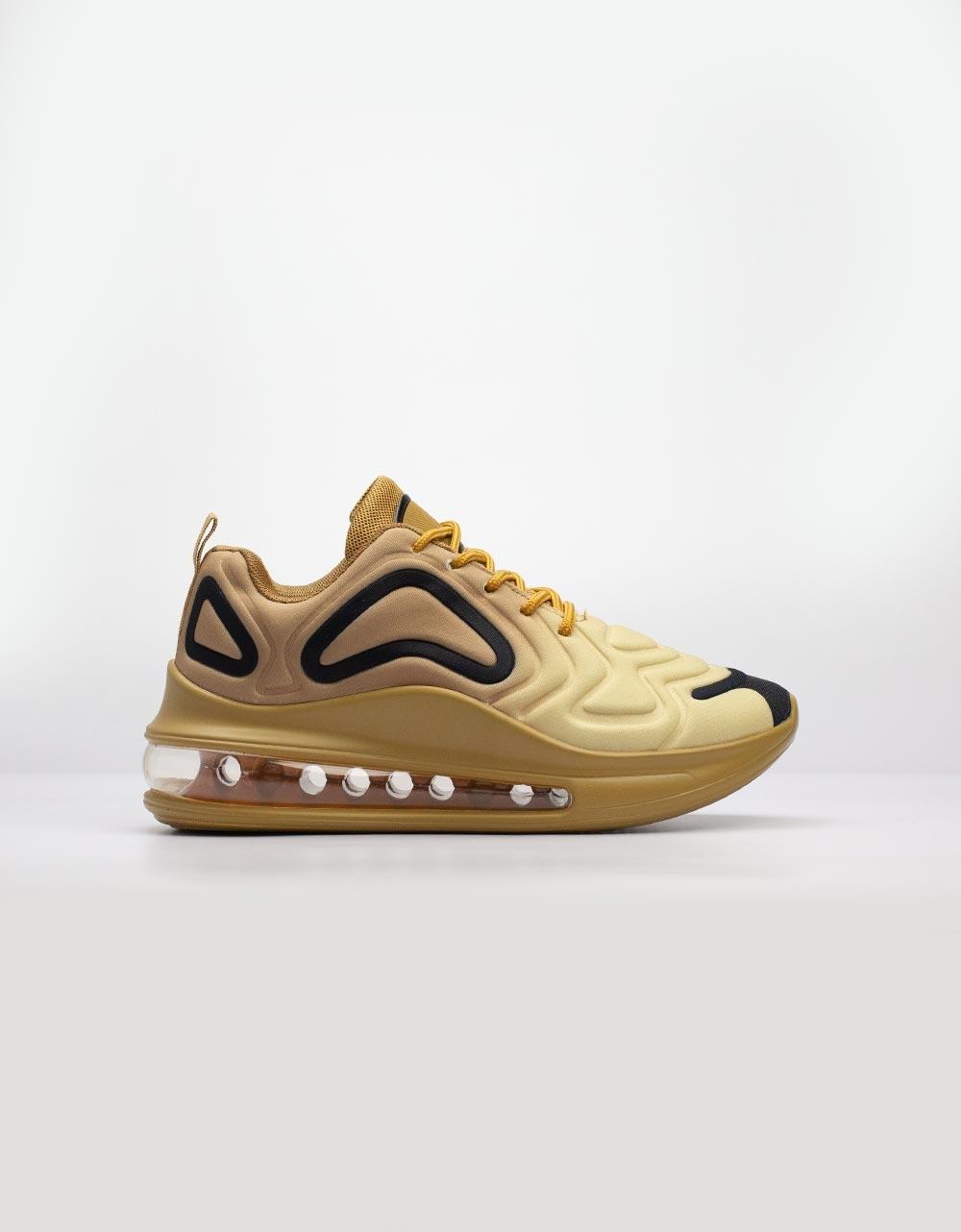 Εικόνα από Γυναικεία sneakers με αερόσολα και ανάγλυφα σχέδια Χρυσό