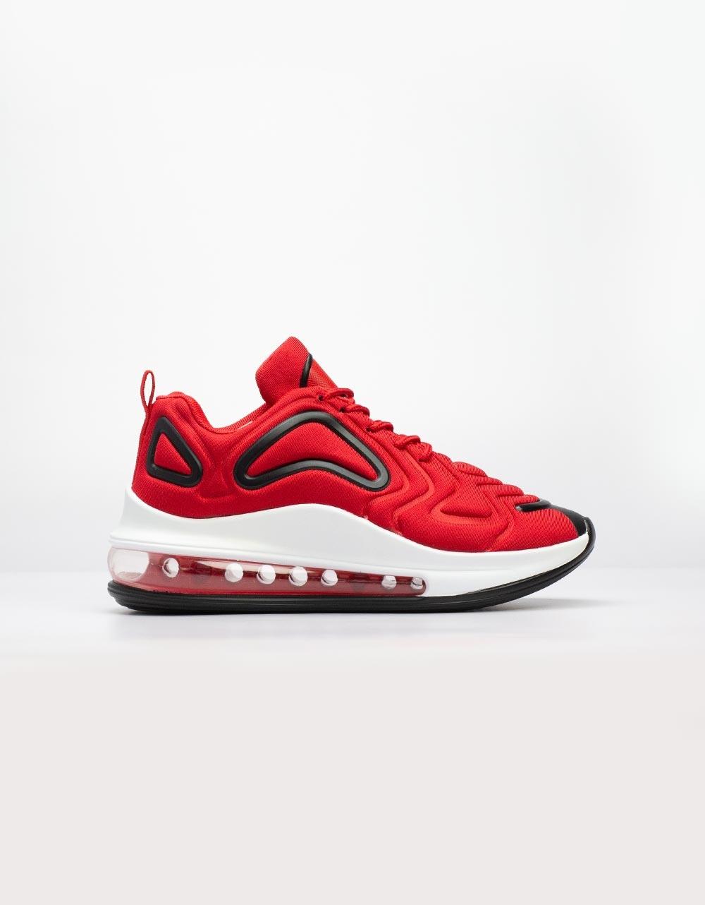 Εικόνα από Γυναικεία sneakers με αερόσολα και ανάγλυφα σχέδια Κόκκινο/Μαύρο