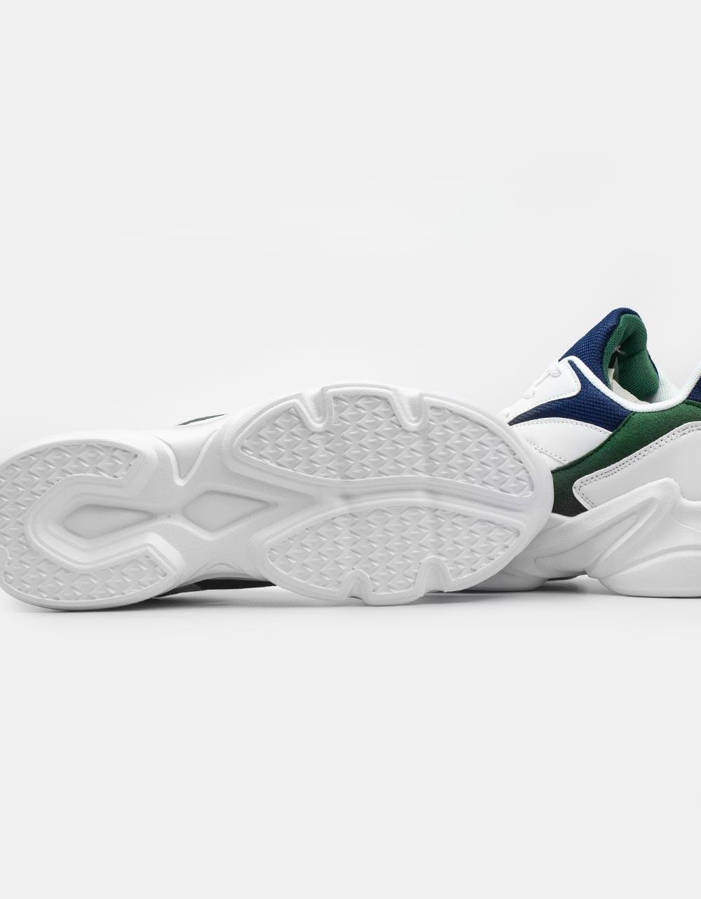 Εικόνα από Ανδρικά sneakers με ανάγλυφες λεπτομέρειες Λευκό/Μπλε