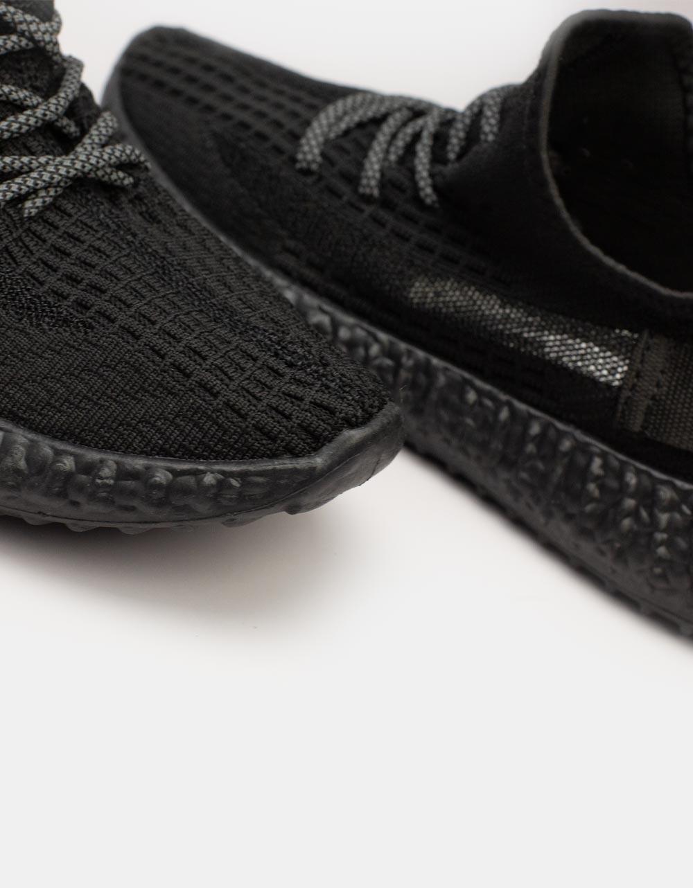 Εικόνα από Ανδρικά sneakers ελαστικά με λεπτομέρειες Μαύρο