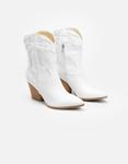 Εικόνα από Γυναικεία μποτάκια cowboy με κροκό λεπτομέρειες Λευκό