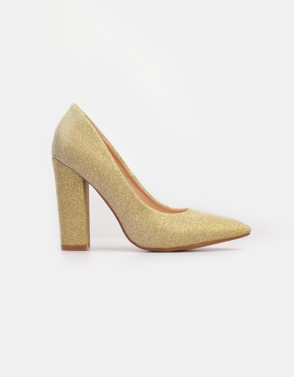 Εικόνα από Γυναικείες γόβες με glitter Χρυσό